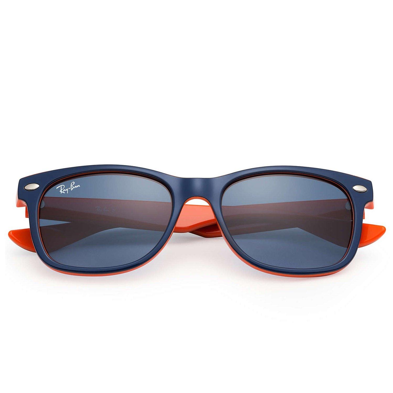 Ray-Ban Kids New Wayfarer Sunglasses - Navy/Orange - 50mm