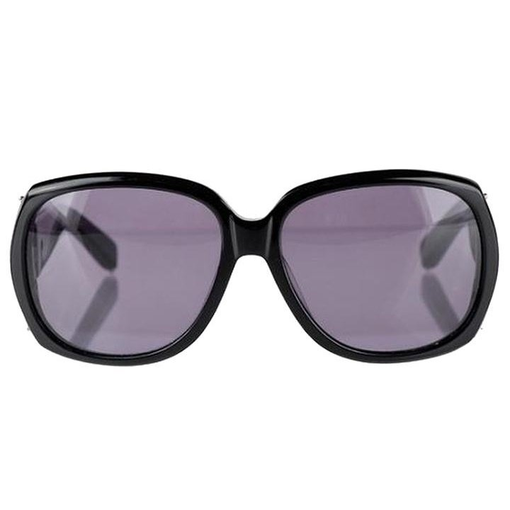 NEW! Chloe Oversized Hakea Retro Sunglasses - Black/Silver