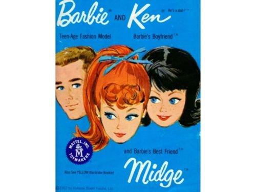 Barbie Ken Midge Catalog Mattel '62-'63 w/rare Insert
