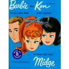 Barbie Ken Midge Catalog Mattel '62-'63 w/rare Insert