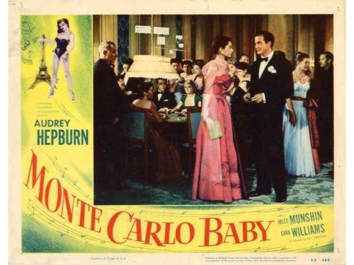 Monte Carlo Baby Lobby Card Audrey Hepburn