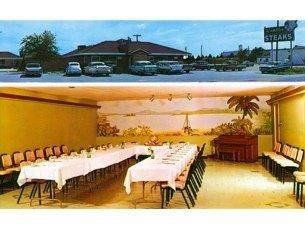 Rambler Steak House Hutchinson Kansas Postcard