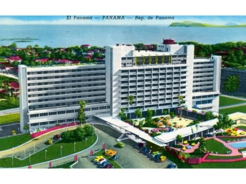 El Panama Panama City Curteich Postcard Tarjeta