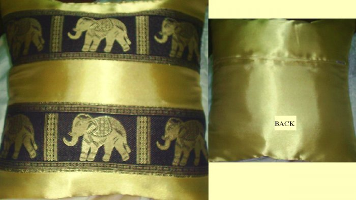 Set of 2 Thai Silk, Pillow Case, Cushion Cover, Excellent Quality, Low Price!