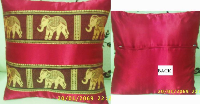 Set of 2 Thai Silk Pillow Case, Cushion Cover, Excellent Quality at Low Price
