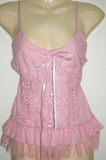 Women Sexy Trendy Fashion Designer T-Shirt Tank Top Pink