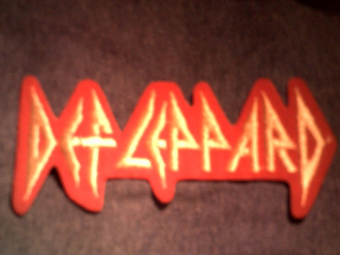 DEF LEPPARD iron-on PATCH yellow logo VINTAGE