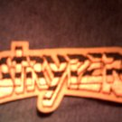 STRYPER iron-on PATCH yellow logo VINTAGE