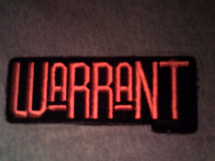WARRANT iron-on PATCH red logo VINTAGE