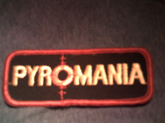 DEF LEPPARD iron-on PATCH Pyromania logo VINTAGE