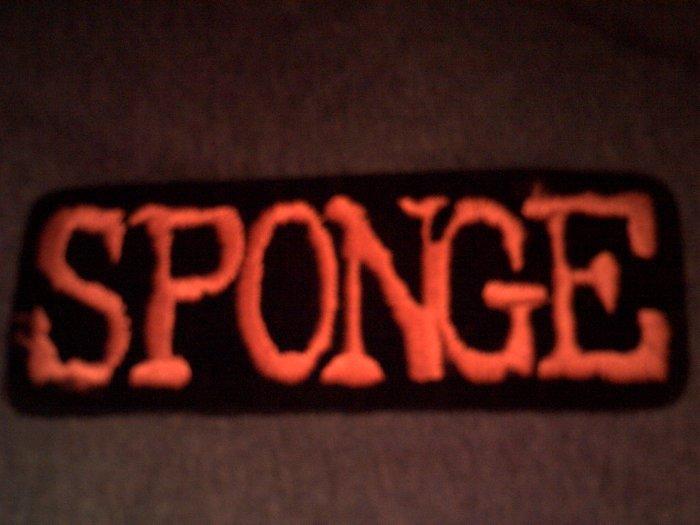 SPONGE iron-on PATCH orange logo VINTAGE