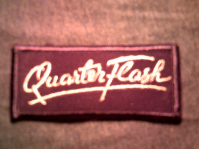 QUARTERFLASH iron-on PATCH purple logo quarter flash VINTAGE