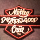 MOTLEY CRUE iron-on PATCH Dr Feelgood logo VINTAGE