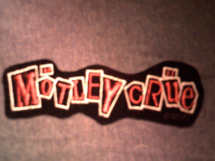 MOTLEY CRUE iron-on PATCH Decade of Decedance diecut logo VINTAGE