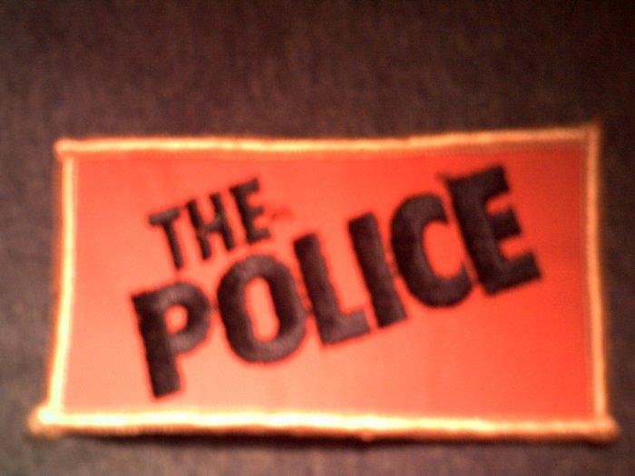 THE POLICE iron-on PATCH orange logo sting VINTAGE