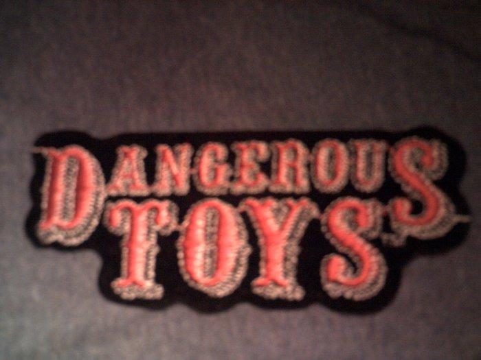 DANGEROUS TOYS iron-on PATCH classic logo VINTAGE
