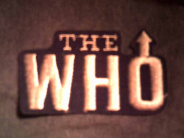 THE WHO iron-on PATCH classic logo diecut VINTAGE