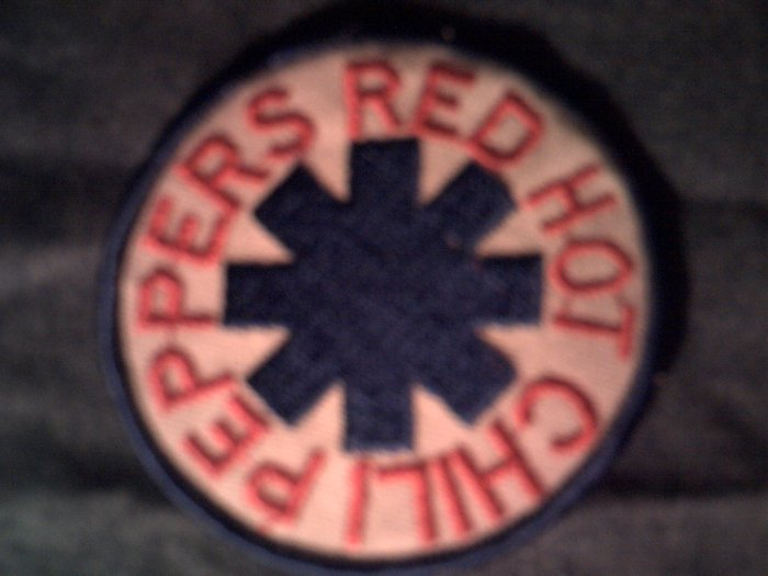 RED HOT CHILI PEPPERS iron-on PATCH round logo rhcp VINTAGE