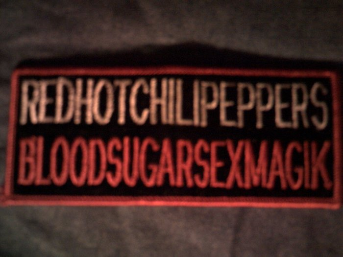 RED HOT CHILI PEPPERS iron-on PATCH Blood Sugar Sex Magic rhcp VINTAGE