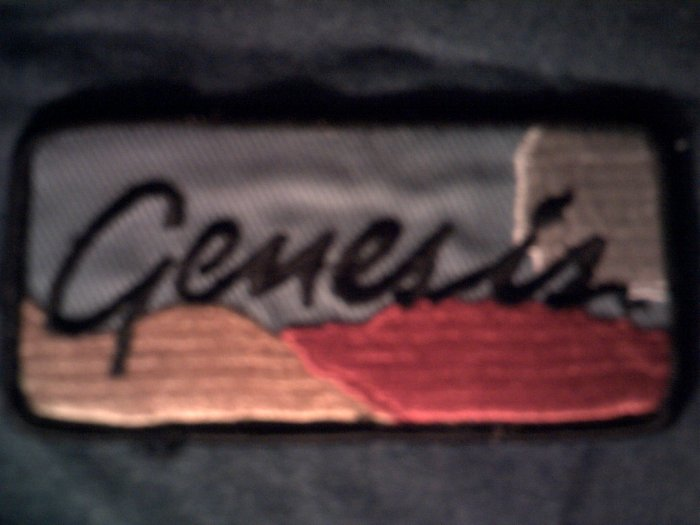 GENESIS iron-on PATCH Abacab logo phil collins VINTAGE