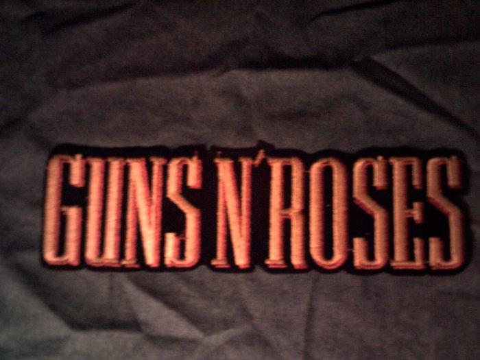 GUNS N ROSES iron-on PATCH yellow logo VINTAGE JUMBO!