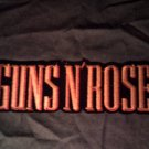 GUNS N ROSES iron-on PATCH yellow logo VINTAGE JUMBO!
