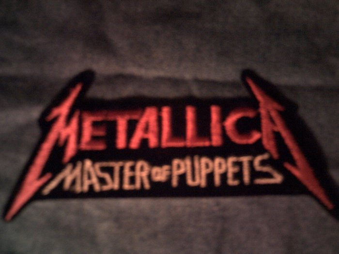 METALLICA iron-on PATCH Master of Puppets red logo VINTAGE