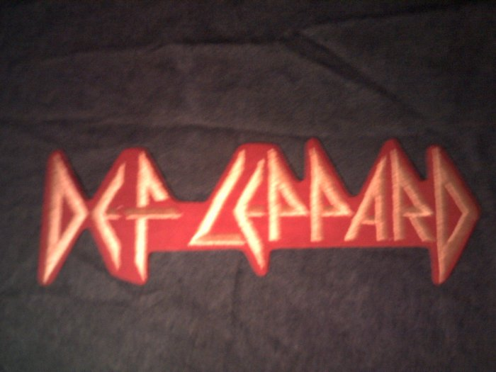 DEF LEPPARD iron-on PATCH classic logo VINTAGE JUMBO!