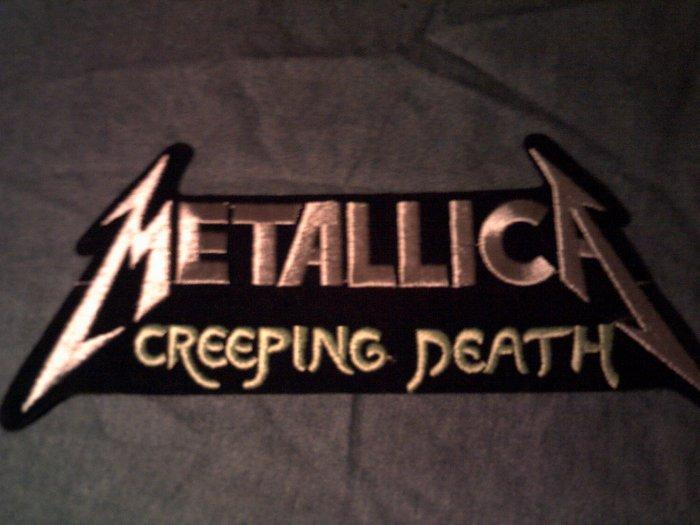 METALLICA iron-on PATCH Creeping Death silver VINTAGE JUMBO!