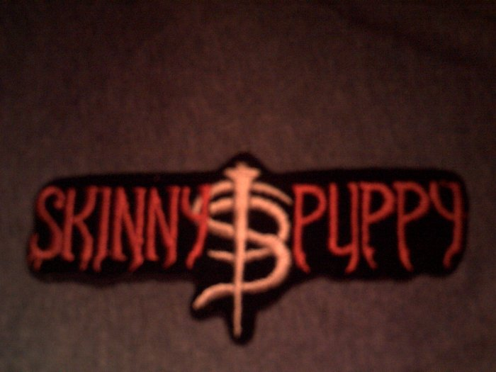 SKINNY PUPPY iron-on PATCH logo punk VINTAGE