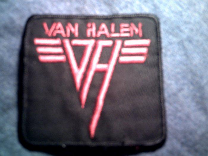 VAN HALEN iron-on PATCH red logo =vh= VINTAGE