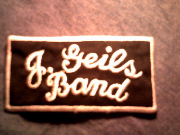 J GEILS BAND iron-on PATCH B&W logo VINTAGE