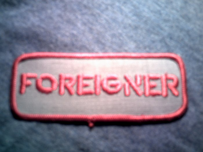 FOREIGNER iron-on PATCH red logo VINTAGE