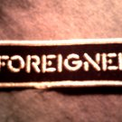 FOREIGNER iron-on PATCH silver logo VINTAGE