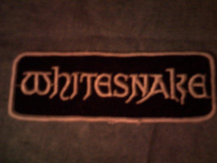 WHITESNAKE iron-on PATCH logo long VINTAGE