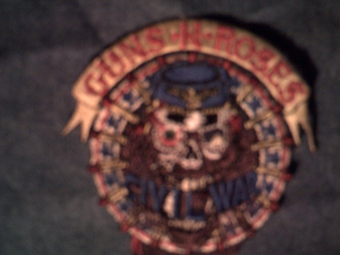 GUNS N ROSES iron-on PATCH Civil War head SALE