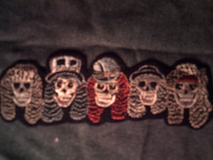 GUNS N ROSES iron-on PATCH band skull heads VINTAGE