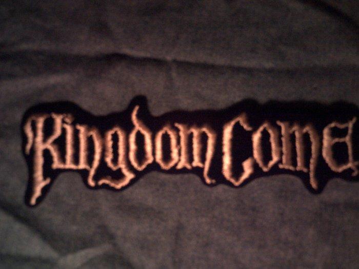 KINGDOM COME iron-on PATCH long logo VINTAGE