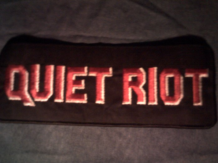 QUIET RIOT iron-on PATCH red logo VINTAGE JUMBO