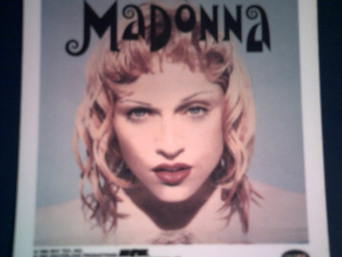 MADONNA DECAL not STICKER color pic VINTAGE