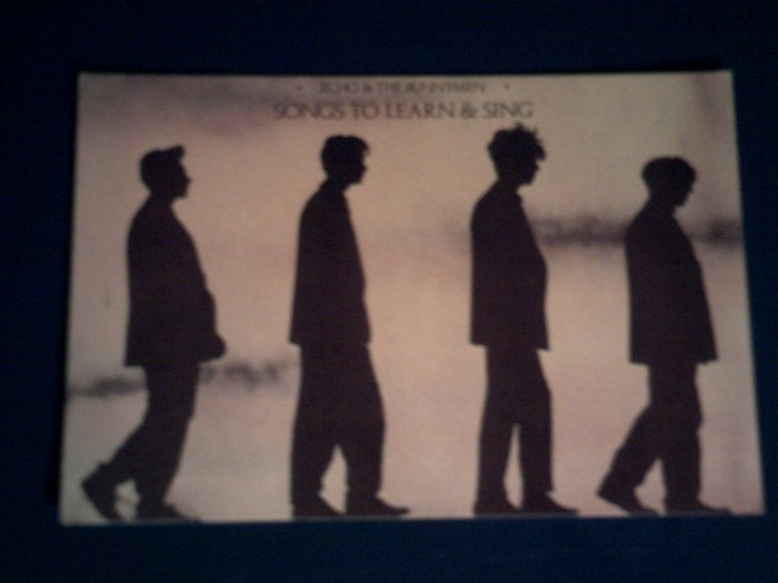 ECHO & THE BUNNYMEN POSTCARD Songs to Learn & Sing IMPORT
