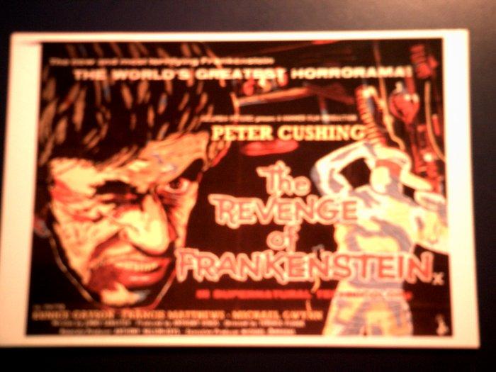 REVENGE OF FRANKENSTEIN POSTCARD Peter Cushing hammer poster IMPORT