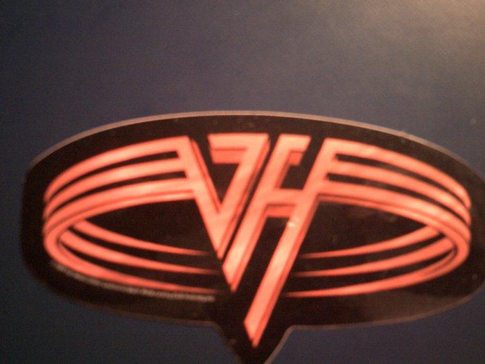 VAN HALEN STICKER round logo red