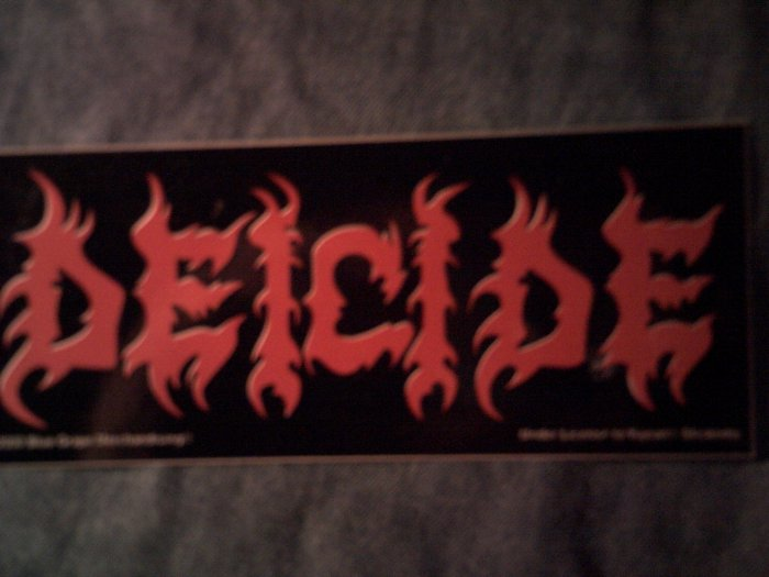 DEICIDE STICKER red logo 2000