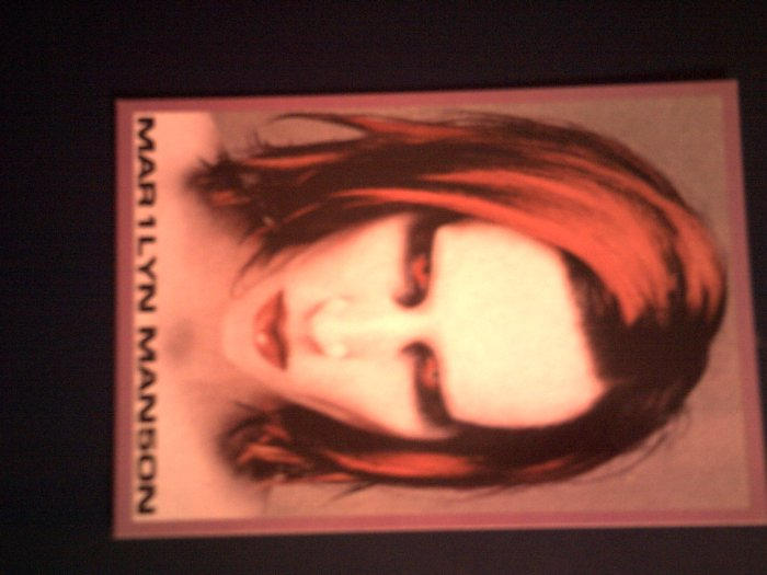 MARILYN MANSON POSTCARD Mechanical Animals IMPORT