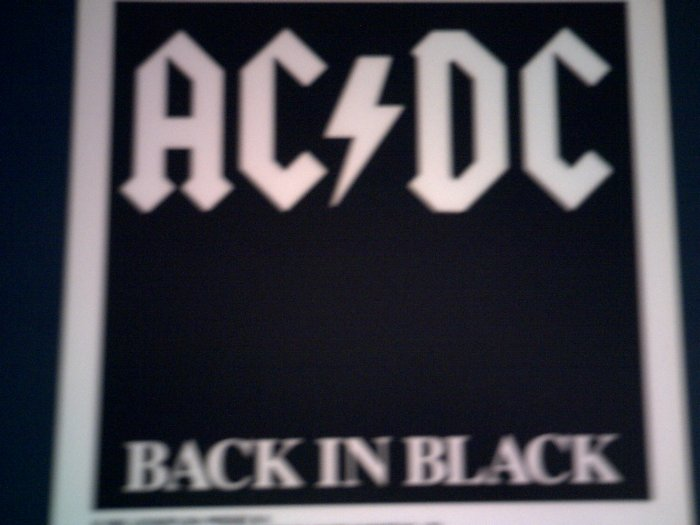 AC/DC DECAL not STICKER Back in Black acdc VINTAGE