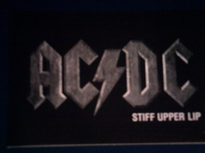 AC/DC POSTCARD Stiff Upper Lip acdc post card PROMO