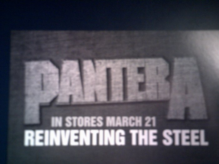 PANTERA POSTCARD Reinventing the Steel PROMO