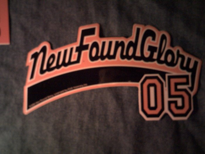 NEW FOUND GLORY STICKER baseball logo SALE