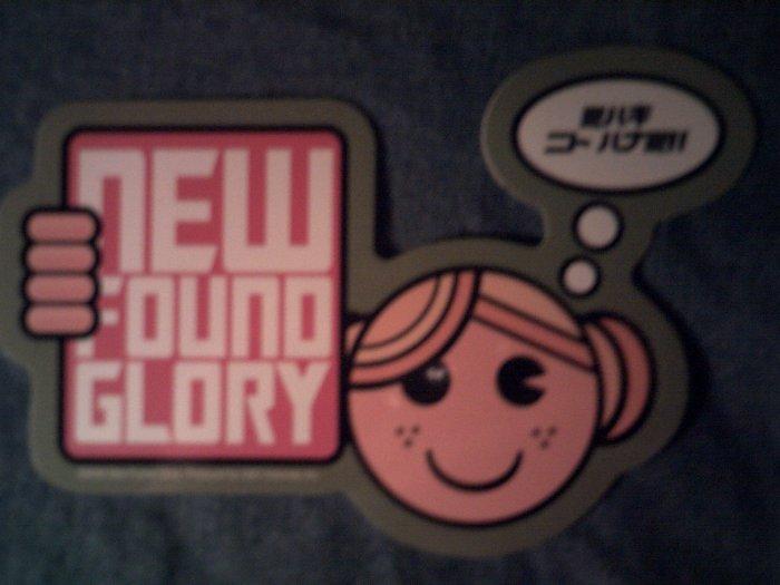 NEW FOUND GLORY STICKER japan girl SALE
